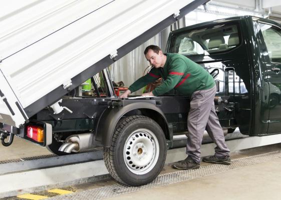 Kipper-Aufbauten sind ebenfalls ein Fachgebiet der Firma Hödlmayr.