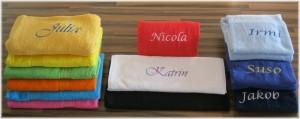 Die Firma Zimmerbauer bietet verschiedene Möglichkeiten Textilien zu veredeln. Bestickung ist eine der edelsten Formen davon.