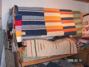 Fleckerlteppiche aus der Handweberei Zimmerbauer in Klaffer am Hochficht.
